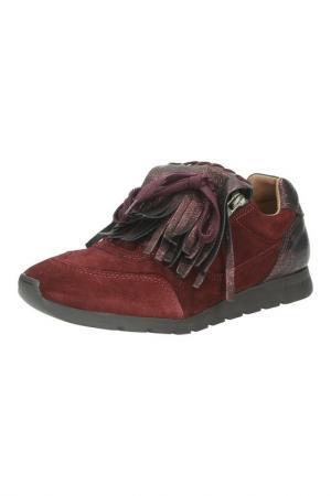 Кроссовки Dali. Цвет: бордовый
