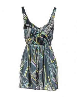 Короткое платье FREESOUL. Цвет: грифельно-синий