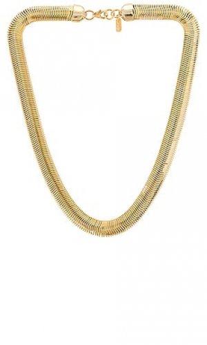 Ожерелье cobra Electric Picks Jewelry. Цвет: металлический золотой