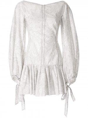 Платье мини Moreno CAMILLA AND MARC. Цвет: белый