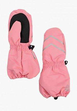 Варежки Outventure. Цвет: розовый