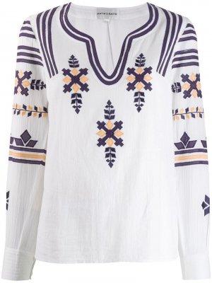 Топ Anika с вышивкой Antik Batik. Цвет: белый