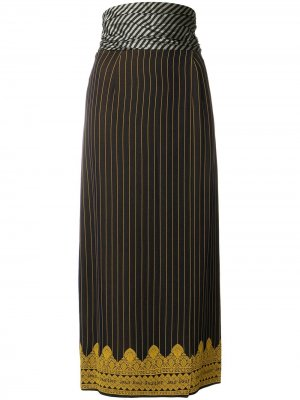 Юбка миди в полоску Jean Paul Gaultier Pre-Owned. Цвет: синий
