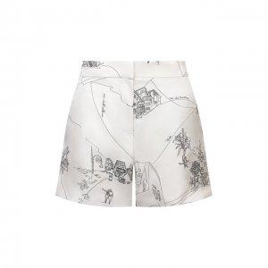 Шелковые шорты Emilio Pucci. Цвет: белый
