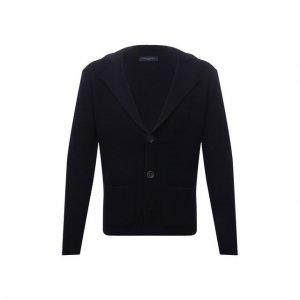Шерстяной пиджак Daniele Fiesoli. Цвет: синий