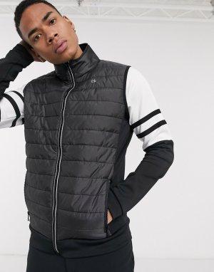 Черный дутый жилет Calvin Klein Golf