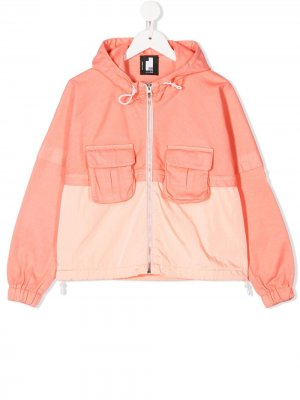 Куртка с капюшоном Cinzia Araia Kids. Цвет: оранжевый