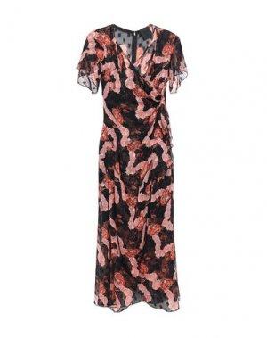 Платье длиной 3/4 ANNA SUI. Цвет: черный