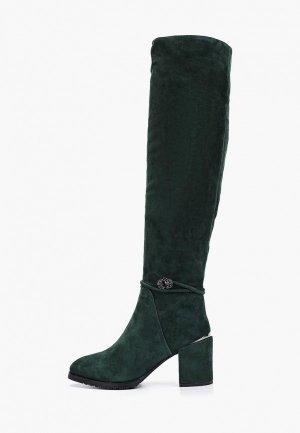 Ботфорты Evita. Цвет: зеленый