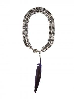 Цепочное ожерелье Ann Demeulemeester. Цвет: золотистый