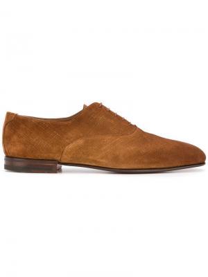 Оксфорды со шнуровкой Santoni. Цвет: коричневый