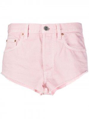 Джинсовые шорты с завышенной талией VETEMENTS. Цвет: розовый