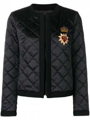 Diamond quilted jacket Dolce & Gabbana. Цвет: черный