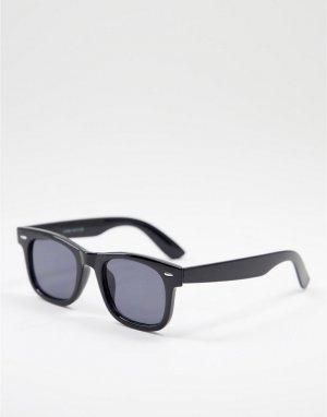 Черные солнцезащитные очки в квадратной оправе -Черный цвет Only & Sons