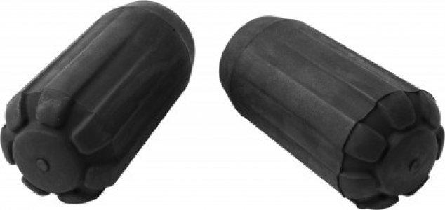 Сменные наконечники для треккинговых палок Tip Protectors Black Diamond. Цвет: черный