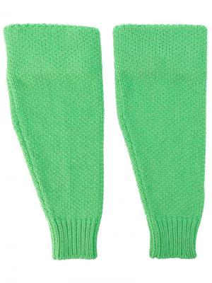 Трикотажные рукава Raf Simons. Цвет: зелёный