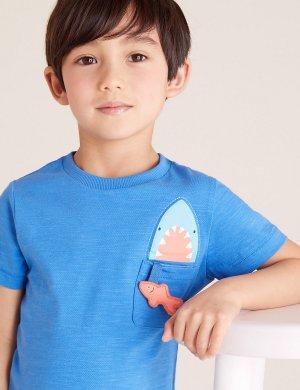Комплект футболок с рисунком (3 шт) Marks & Spencer. Цвет: мульти