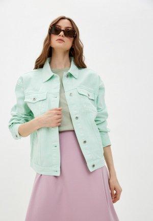 Куртка джинсовая Befree Exclusive online. Цвет: бирюзовый