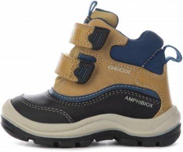 Ботинки утепленные детские Flanfil, размер 25 Geox. Цвет: желтый