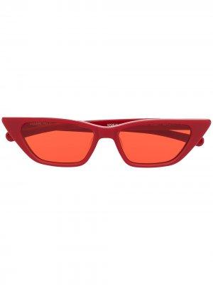 Солнцезащитные очки в оправе кошачий глаз AMBUSH. Цвет: красный