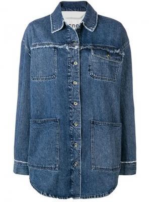 Джинсовая куртка-рубашка Acne Studios. Цвет: синий