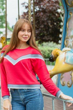 Толстовка Lika dress. Цвет: красный