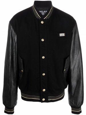 Бомбер с логотипом Versace Jeans Couture. Цвет: черный