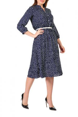 Платье Forus. Цвет: синий, белый