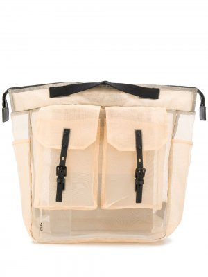 Полупрозрачный рюкзак Frank Ally Capellino. Цвет: нейтральные цвета