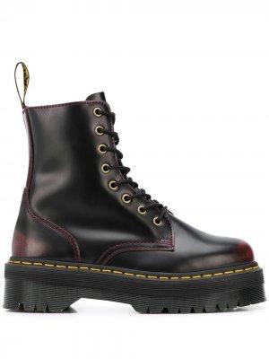 Ботинки Jadon в стиле милитари Dr. Martens. Цвет: красный