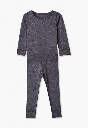 Комплект термобелья Wool&Cotton. Цвет: серый