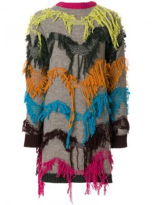 IM Isola Marras кардиган с вышивкой I'M. Цвет: нейтральные цвета