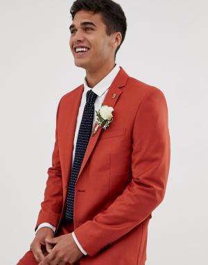 Красный приталенный пиджак Farah Henderson Smart