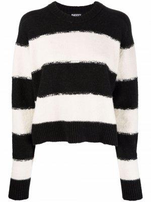 Полосатый пуловер Diesel. Цвет: черный