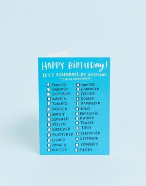 Поздравительная открытка ко дню рождения с надписью lets celebrate -Мульти Lucy Maggie