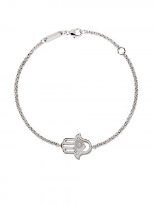 18kt white gold Good Luck Charms diamond bracelet Chopard. Цвет: white gold