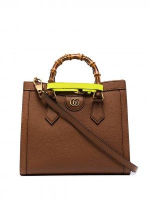 Small Diana leather tote bag Gucci. Цвет: коричневый
