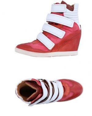 Высокие кеды и кроссовки AIR STEP. Цвет: красно-коричневый