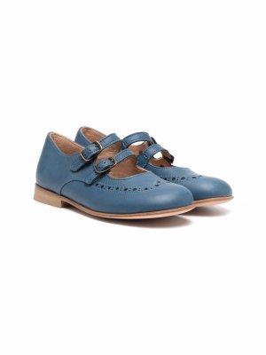 Туфли с ремешками Pèpè. Цвет: синий
