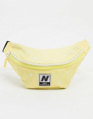 Сумка-кошелек на пояс с принтом -Желтый New Balance