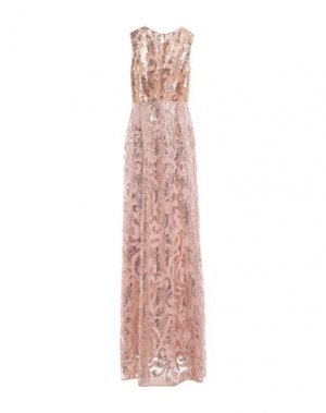 Длинное платье 1-ONE. Цвет: пудровый