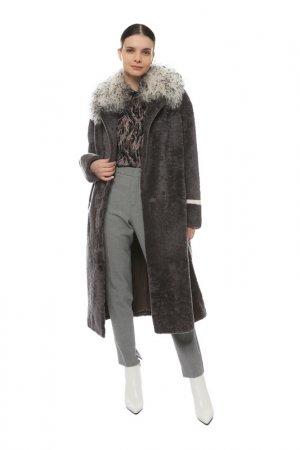 Шуба Virtuale Fur Collection. Цвет: grey, white