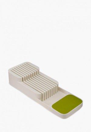 Подставка для ножей Joseph DrawerStore. Цвет: белый