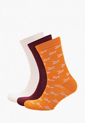 Носки 3 пары Reebok Classic CL FO Crew Sock 3P. Цвет: разноцветный