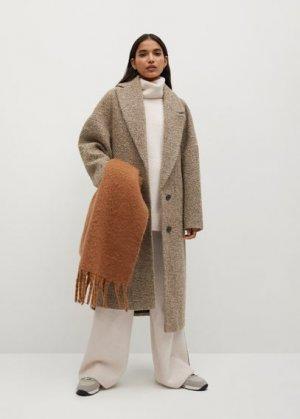 Объемный свитер с воротником отворотом - Picasso Mango. Цвет: экрю
