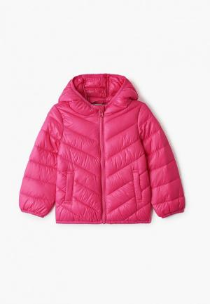 Куртка утепленная United Colors of Benetton. Цвет: розовый