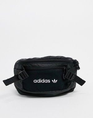 Черная сумка-кошелек на пояс premium tech-Желтый adidas Originals
