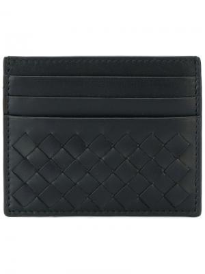 Nero intrecciato card case Bottega Veneta. Цвет: черный