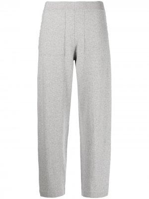 Трикотажные брюки с вышивкой Iris Von Arnim. Цвет: серый