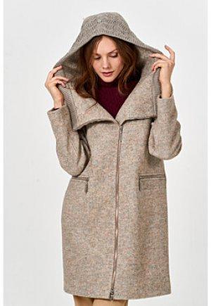 Пальто с вязаной отделкой Elema